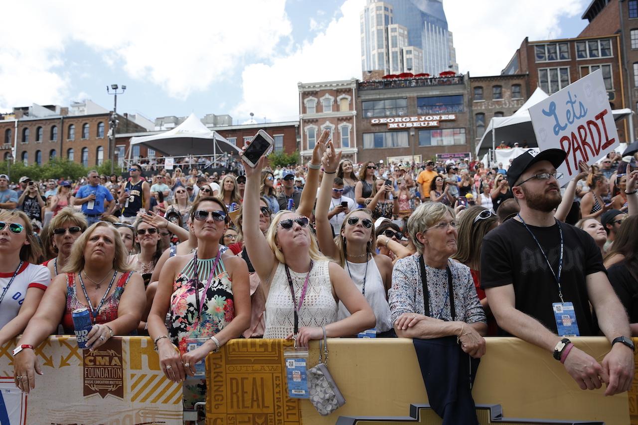 Fans at CMA Fest