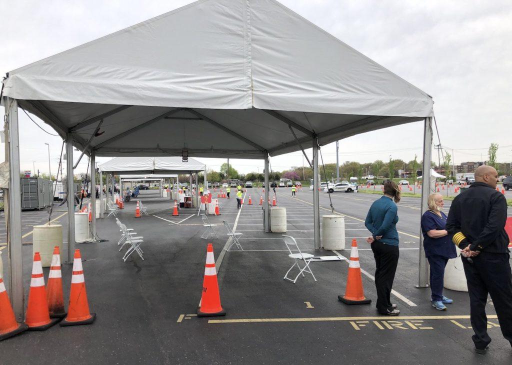 Nashville drive-thru testing site