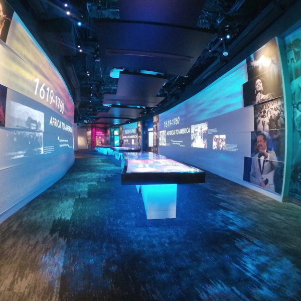 An exhibition hall within the National Museum of African American Music